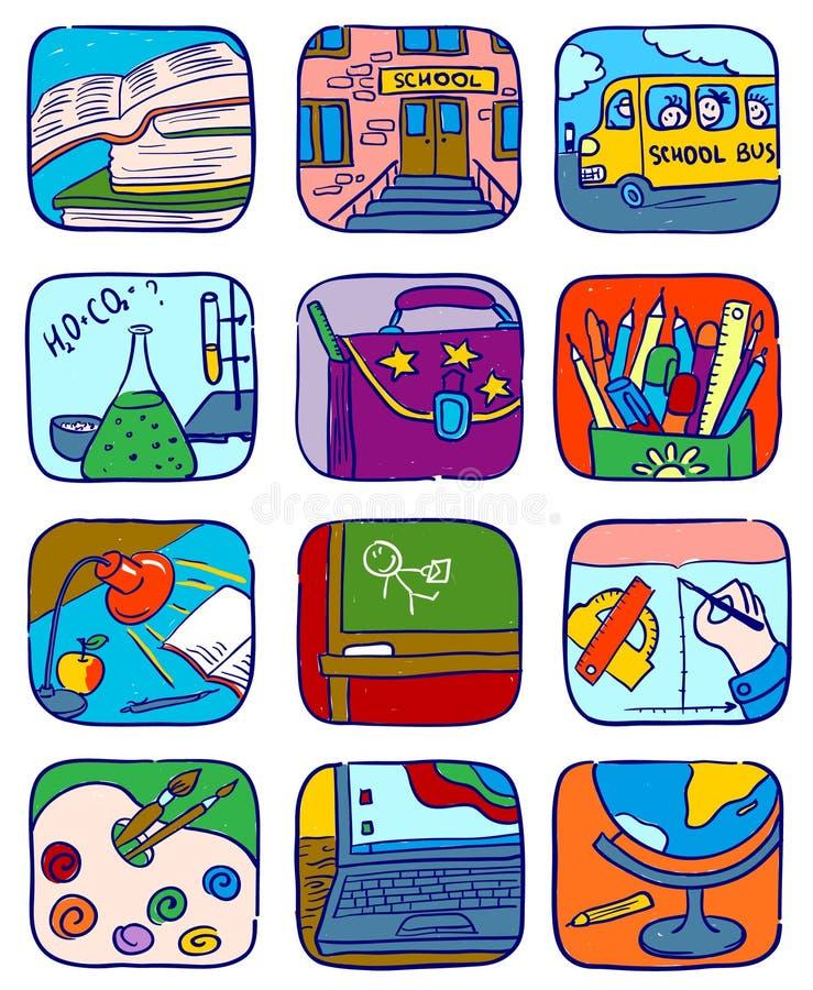 symbolsskola vektor illustrationer