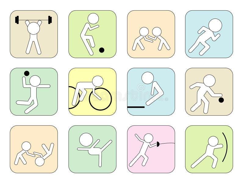 symbolssport vektor illustrationer