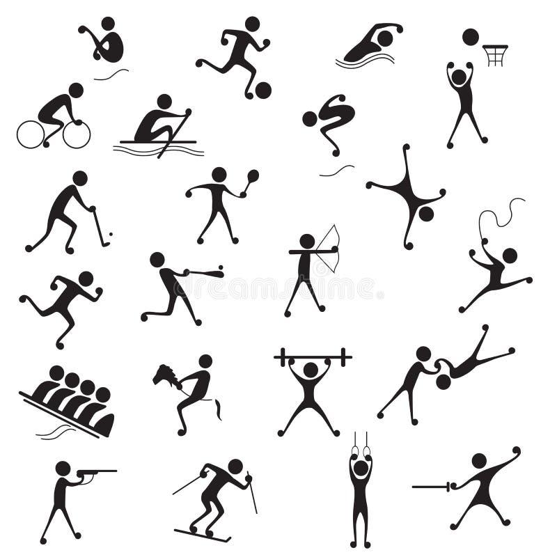 symbolssportar stock illustrationer