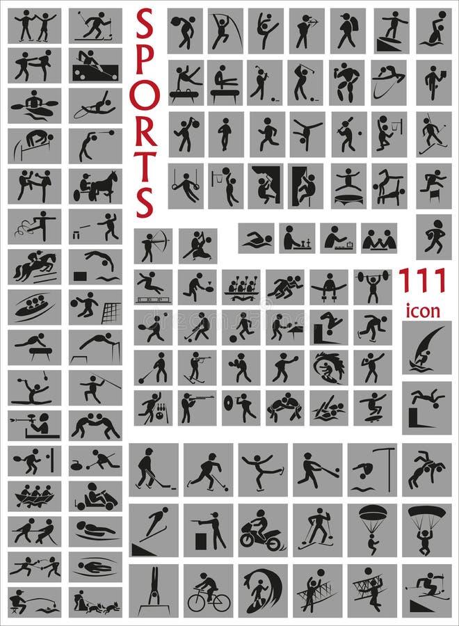 Symbolssportar vektor illustrationer