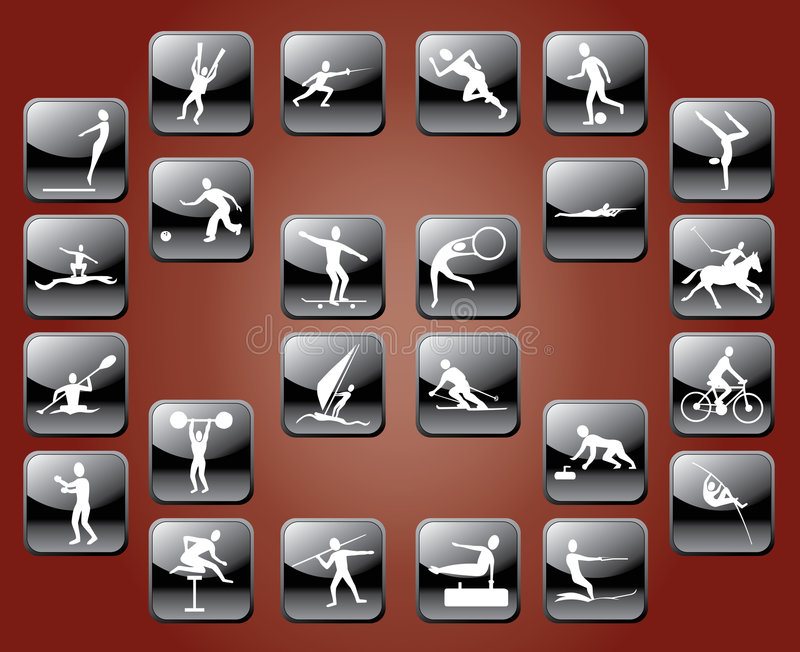 symbolssportar royaltyfri illustrationer