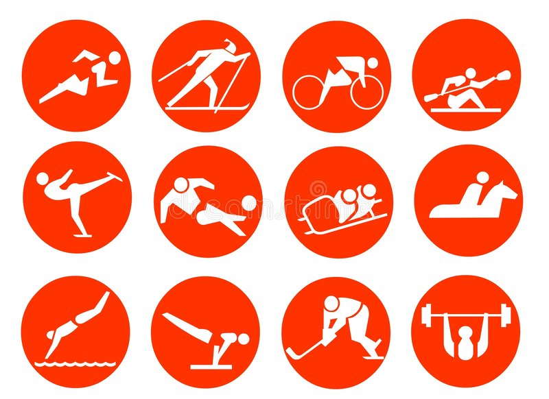 symbolssportsymbol vektor illustrationer