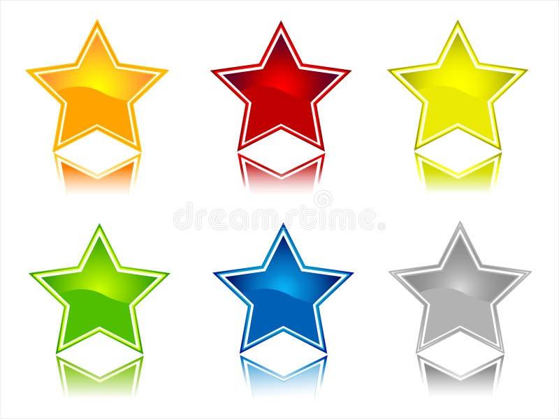 symbolsstjärna royaltyfri illustrationer