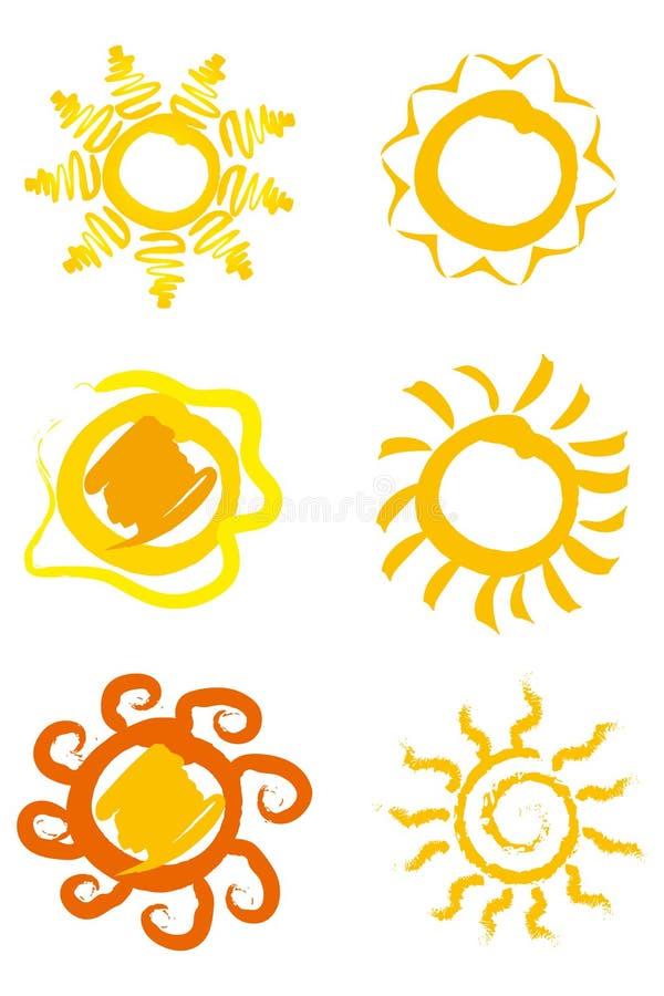 symbolssun royaltyfria foton