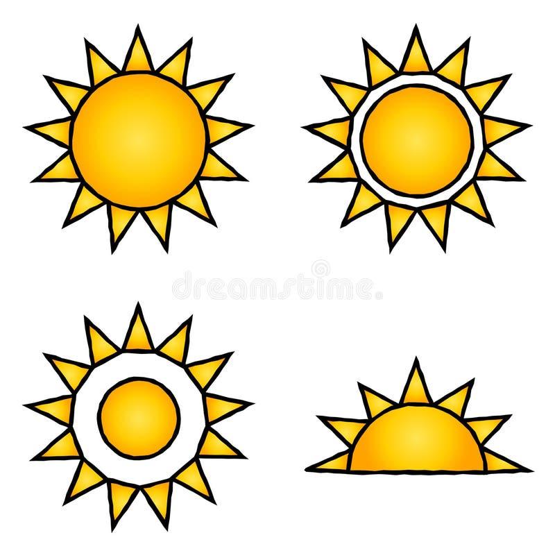 symbolssun stock illustrationer