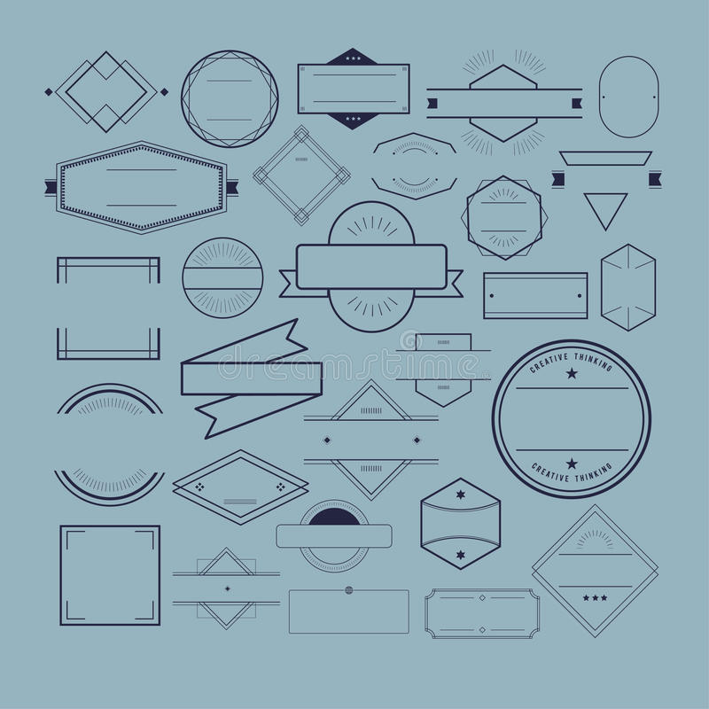Symbolssymbolemblem Logo Collection Concept vektor illustrationer