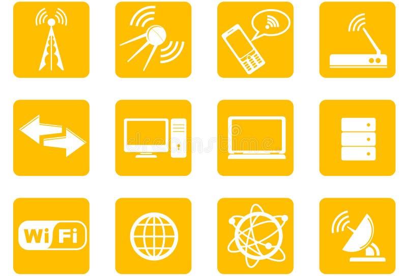 symbolsteknologiradio vektor illustrationer
