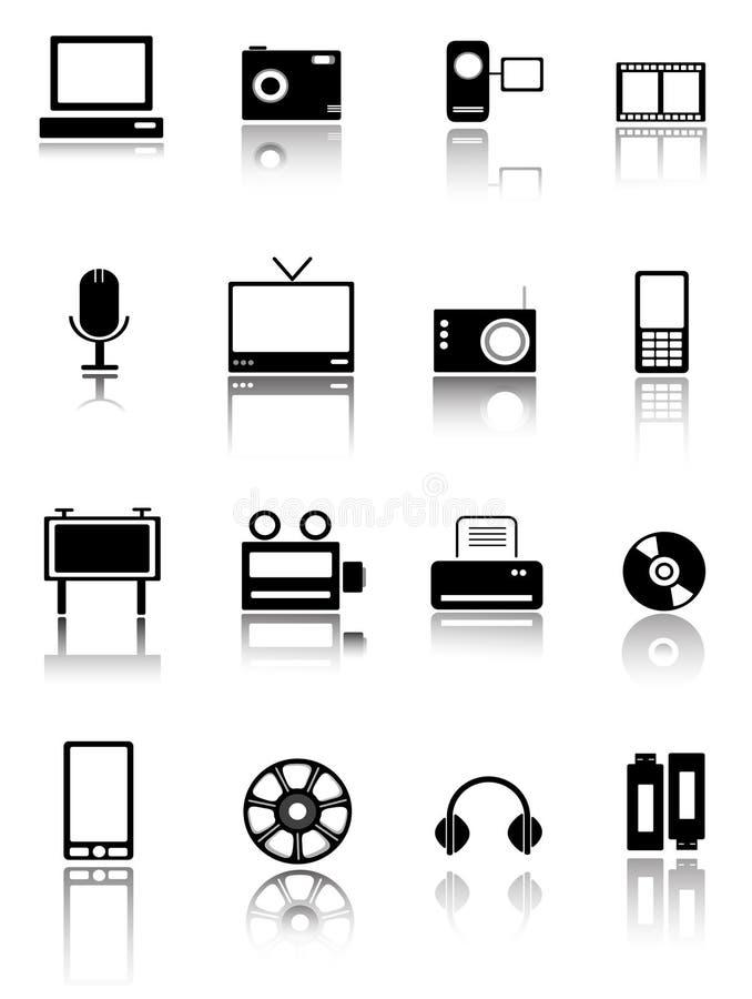 symbolsteknologirengöringsduk stock illustrationer