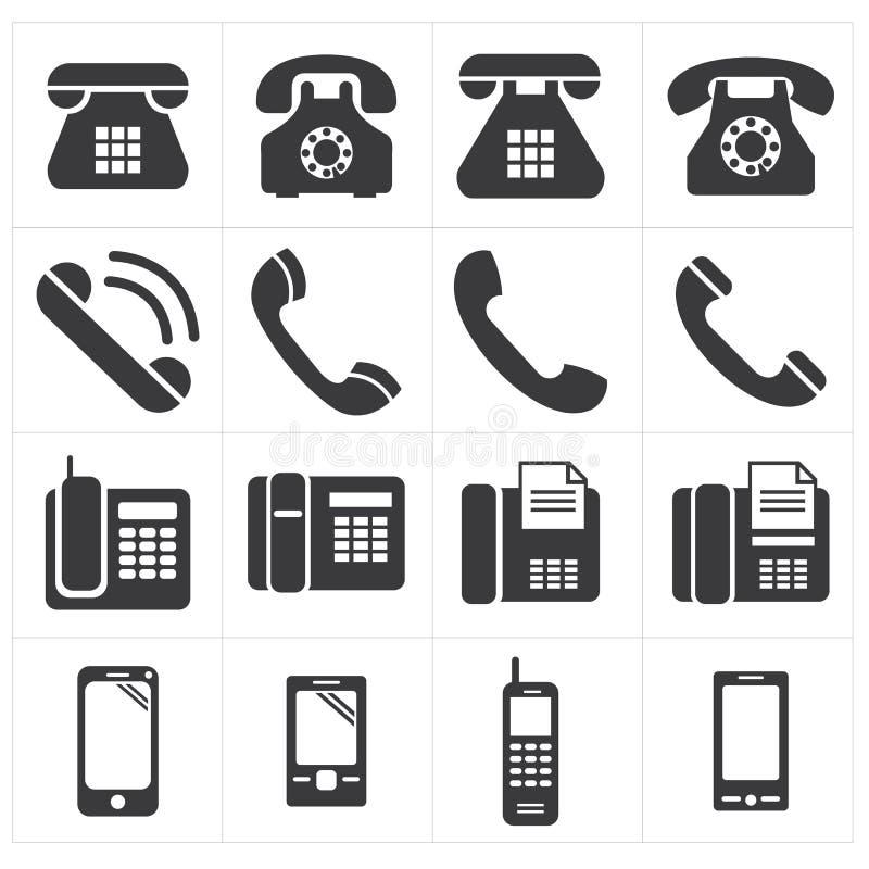 Symbolstelefonklassiker till smartphonen vektor illustrationer