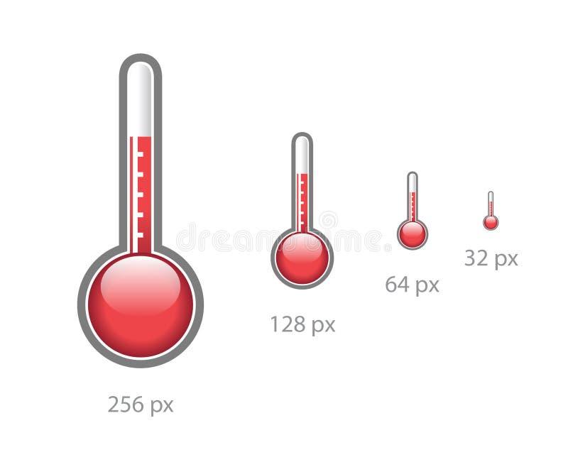 symbolstermometer vektor illustrationer