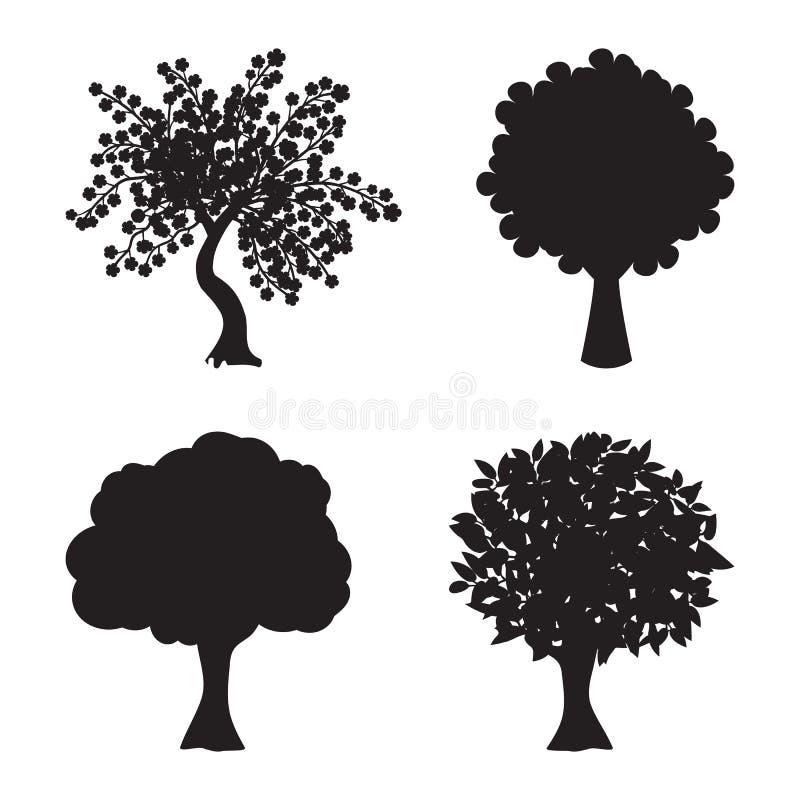 Symbolsträd vektor illustrationer