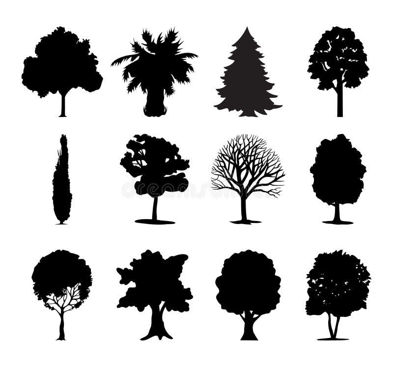 symbolstrees vektor illustrationer