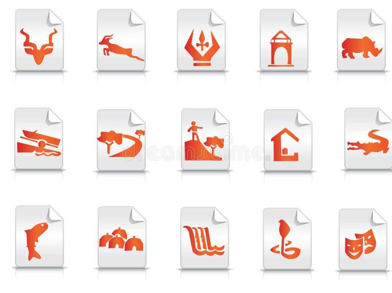 symbolsturism royaltyfri illustrationer
