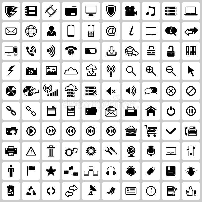 Symbolsuppsättning royaltyfri illustrationer