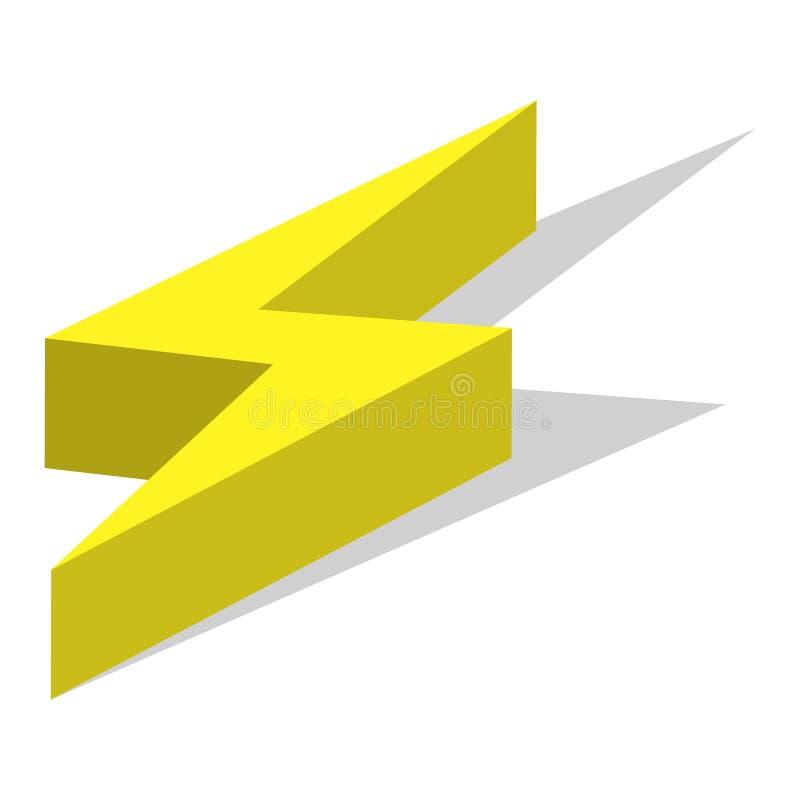 Symbolsuppsättning för ljus energi, isometrisk stil royaltyfri illustrationer
