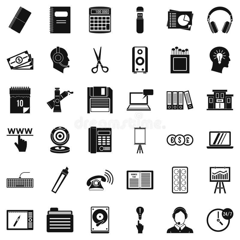 Symbolsuppsättning för pappers- version, enkel stil vektor illustrationer