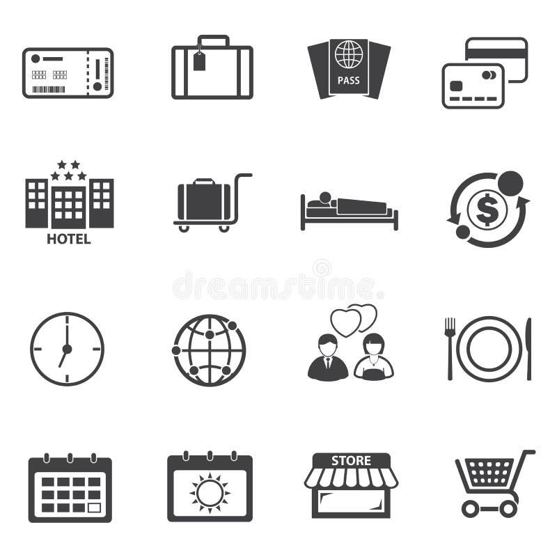 Symbolsuppsättning för turist- lopp stock illustrationer