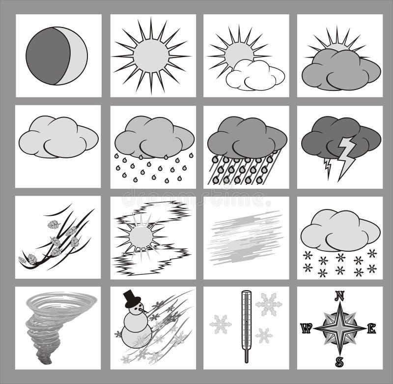 symbolsväder stock illustrationer