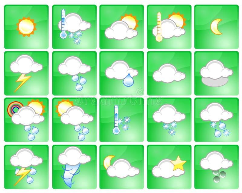 symbolsväder vektor illustrationer