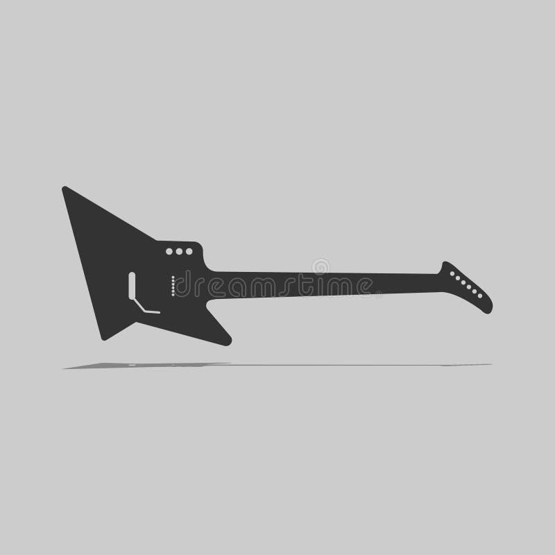 Symbolsvektor för elektrisk gitarr royaltyfria bilder