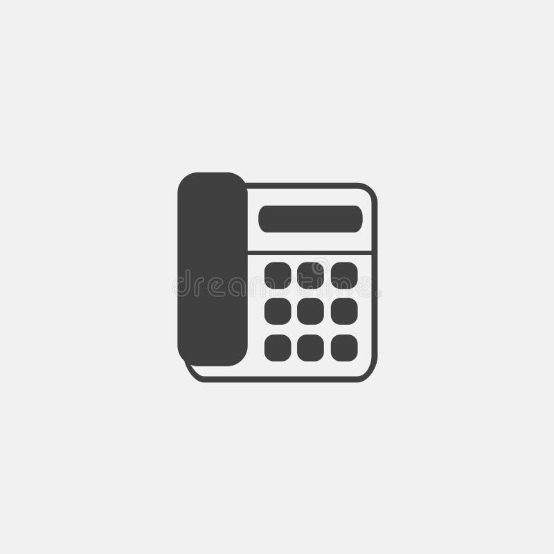 symbolsvektor för hem- telefon royaltyfri illustrationer