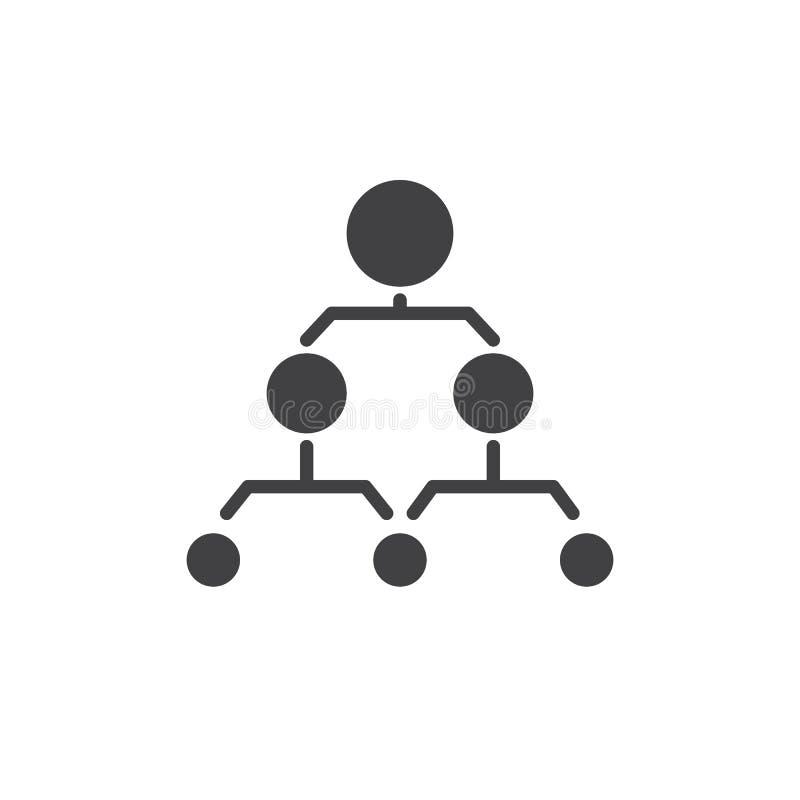 Symbolsvektor för hierarkisk struktur royaltyfri illustrationer