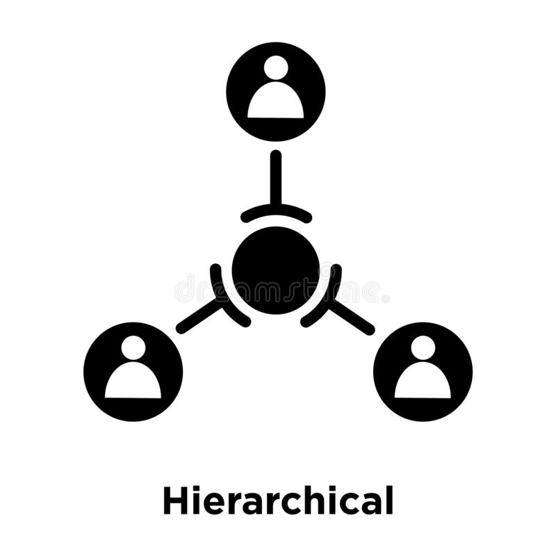 Symbolsvektor för hierarkisk struktur som isoleras på vit bakgrund, vektor illustrationer