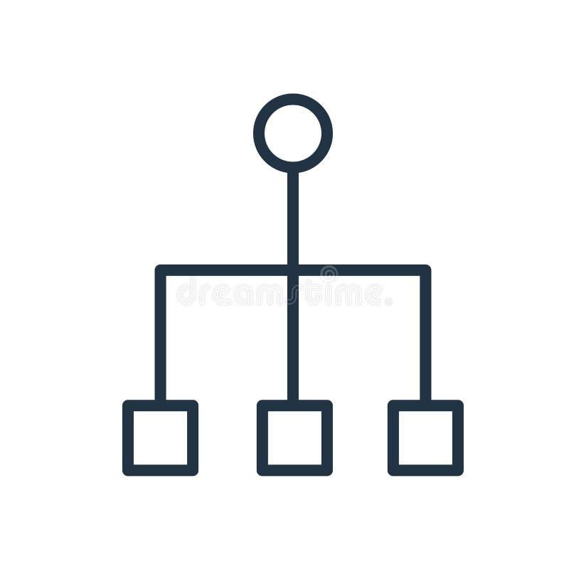 Symbolsvektor för hierarkisk struktur som isoleras på vit bakgrund, tecken för hierarkisk struktur stock illustrationer