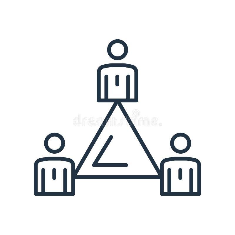 Symbolsvektor för hierarkisk struktur som isoleras på vit bakgrund, tecken för hierarkisk struktur vektor illustrationer