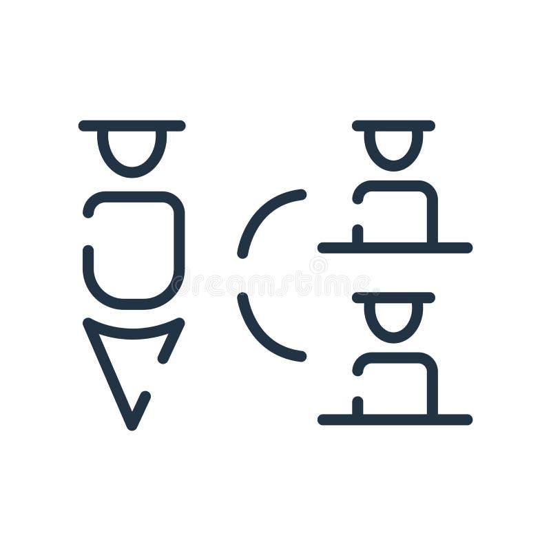 Symbolsvektor för hierarkisk struktur som isoleras på vit bakgrund, tecken för hierarkisk struktur, linjen symbol eller linjär be vektor illustrationer