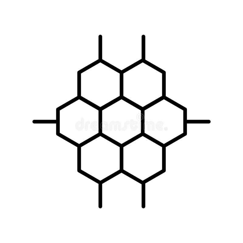 Symbolsvektor för kemisk struktur som isoleras på vit bakgrund, tecken för kemisk struktur, tunn linje designbeståndsdelar i över royaltyfri illustrationer
