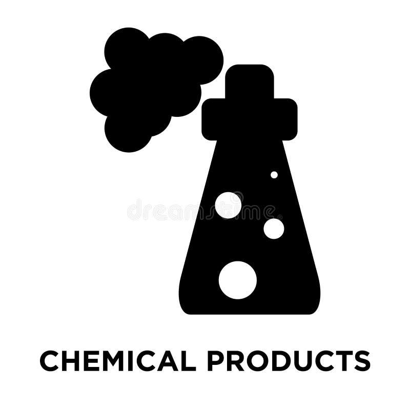 Symbolsvektor för kemiska produkter som isoleras på vit bakgrund, logo stock illustrationer