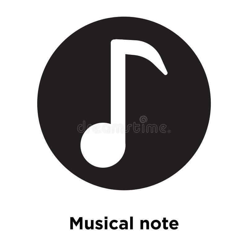Symbolsvektor för musikalisk anmärkning som isoleras på vit bakgrund, conc logo stock illustrationer