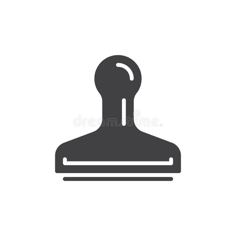 Symbolsvektor för Rubber stämpel, fyllt plant tecken, fast pictogram som isoleras på vit Symbol logoillustration stock illustrationer