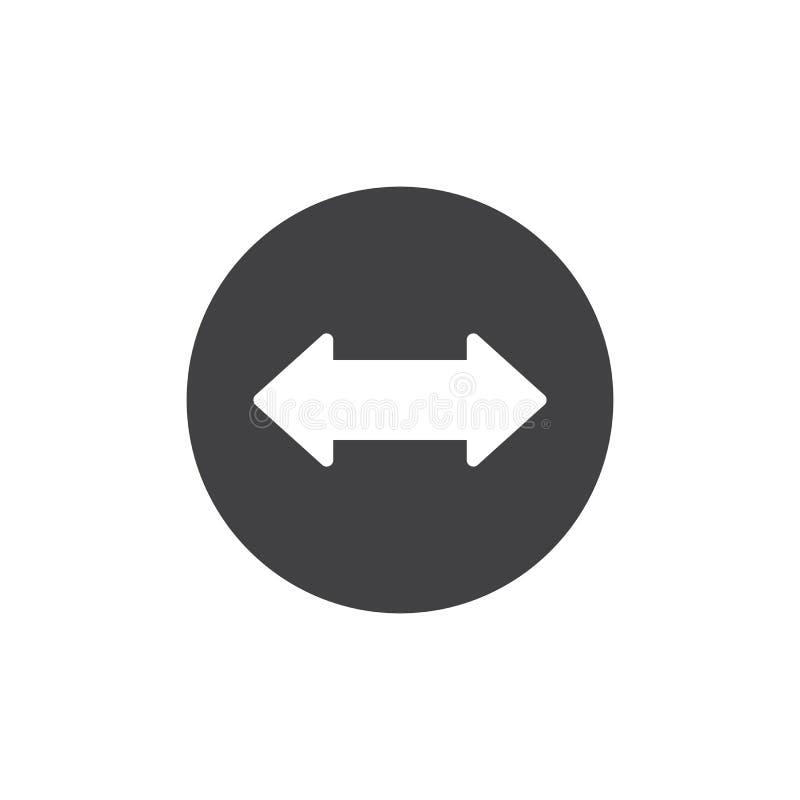 Symbolsvektor för vänster och höger pil stock illustrationer