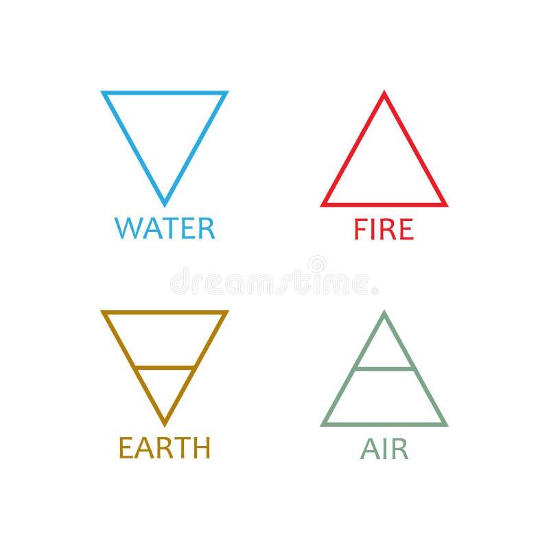 Symbolsymbol för fyra beståndsdelar Vektorillustration, l?genhetdesign royaltyfri illustrationer