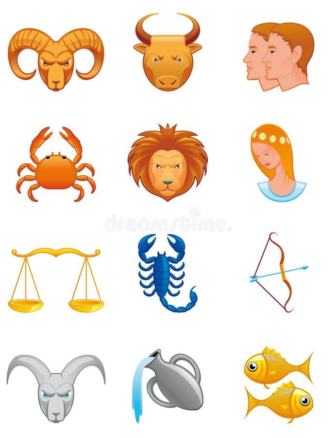 symbolszodiac stock illustrationer
