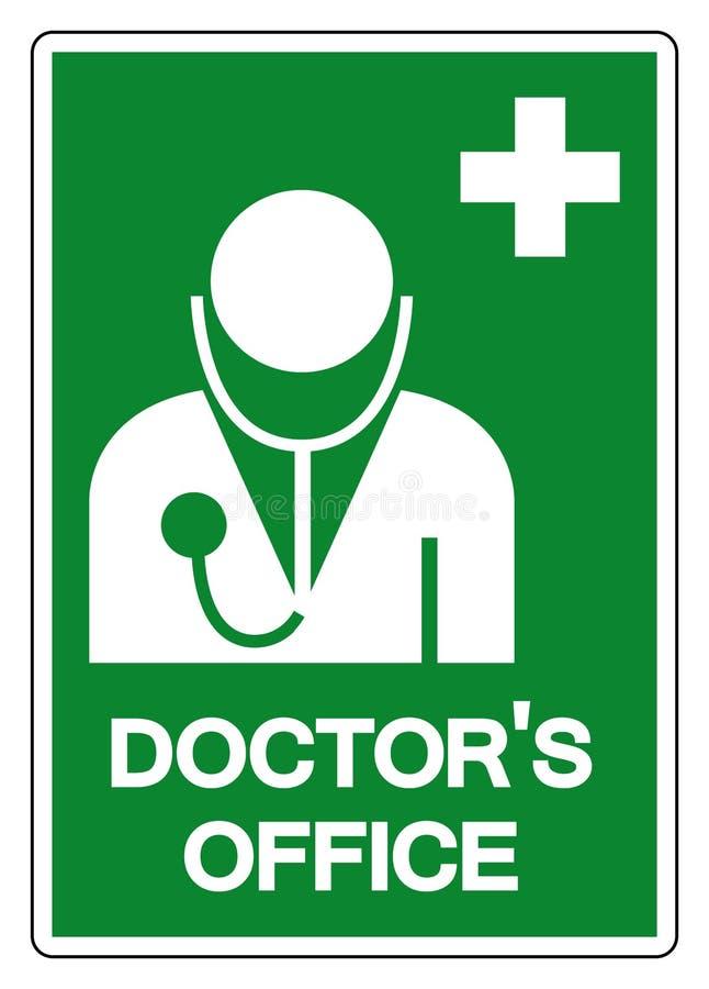 Symboltecken f?r doktor ?kontor, vektorillustration, isolat p? den vita bakgrundsetiketten EPS10 royaltyfri illustrationer