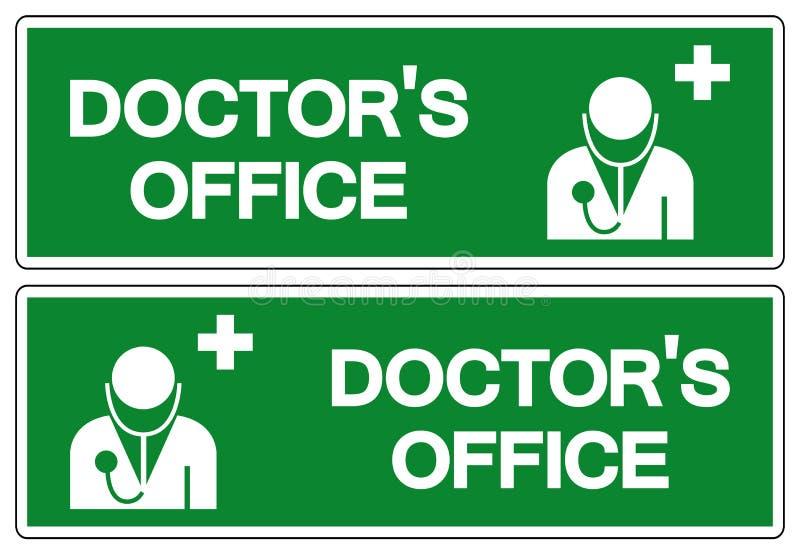 Symboltecken f?r doktor ?kontor, vektorillustration, isolat p? den vita bakgrundsetiketten EPS10 stock illustrationer