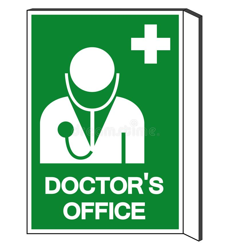 Symboltecken f?r doktor ?kontor, vektorillustration, isolat p? den vita bakgrundsetiketten EPS10 vektor illustrationer