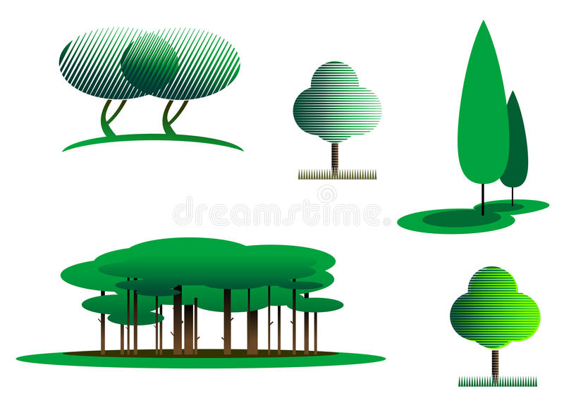 symboltree stock illustrationer