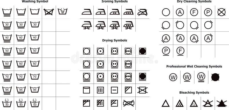 symboltvätt stock illustrationer