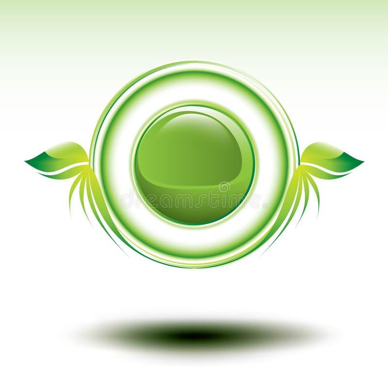 symbolu środowiskowy zielony błyszczący wektor ilustracja wektor