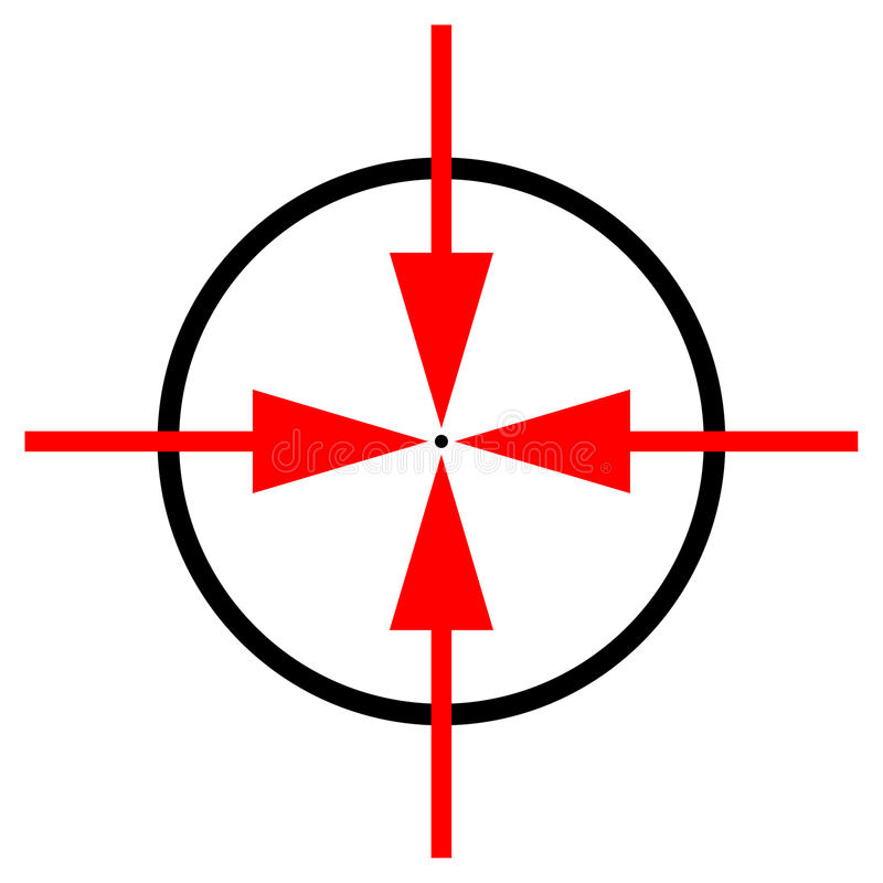 symbolu cel royalty ilustracja