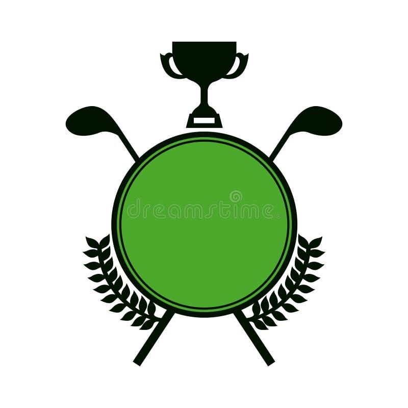 symbolu emblemata golfowa ikona royalty ilustracja