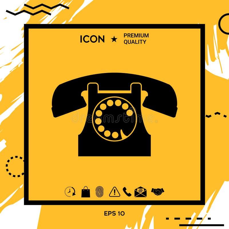 symbolu retro telefon ilustracja wektor