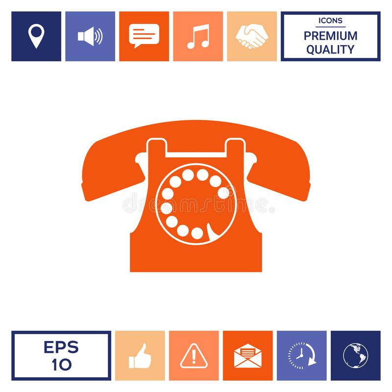 symbolu retro telefon royalty ilustracja