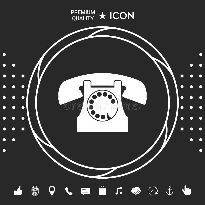 symbolu retro telefon Graficzni elementy dla twój designt ilustracja wektor
