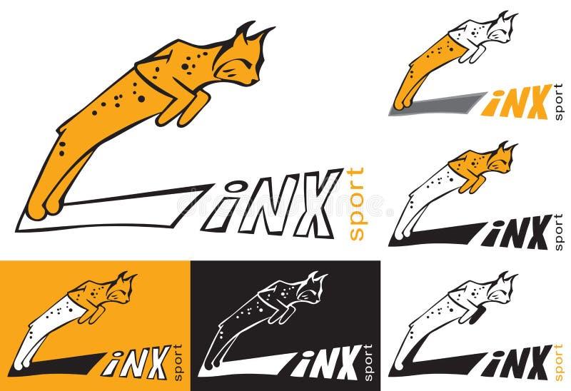 Symbolu ryś skacze ilustracji