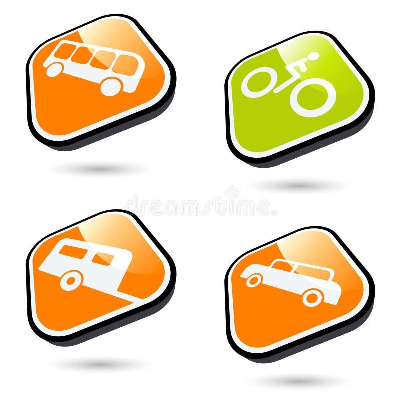 symbolu transport ilustracja wektor